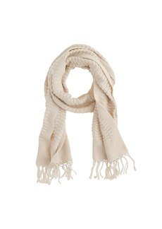 Cotton fringe scarf