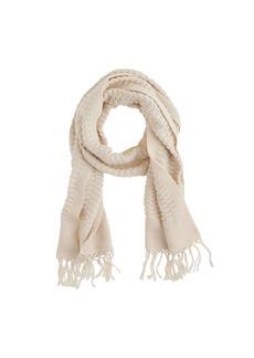 Cotton fringe scarf