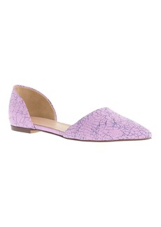 Crackled leather d'Orsay flats