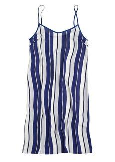 Crepe dress in stripe