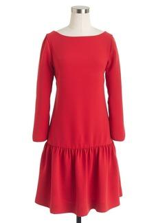 Crepe drop-waist dress