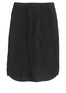 Crepe shirttail skirt
