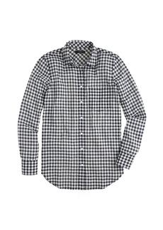 Crinkle check shirt