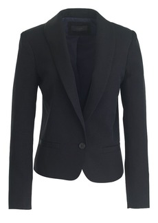 Cropped shawl-collar blazer