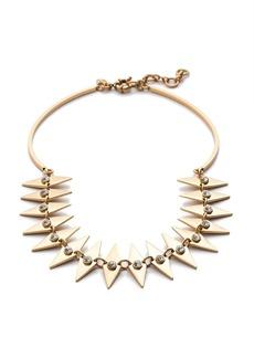 Crystal diamond collar necklace