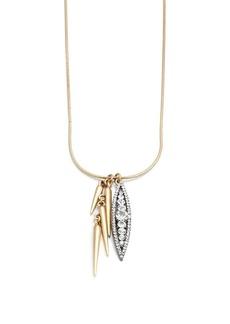 Crystal floret necklace