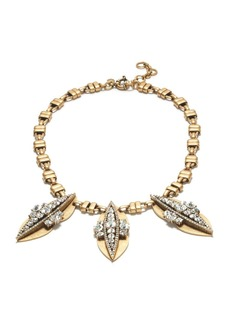 Crystal peapod necklace