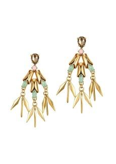 Crystal ray earrings