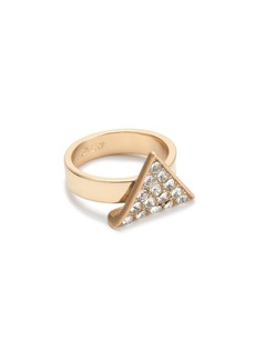 Crystal triangle ring