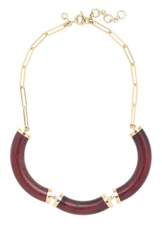 Curved wood necklace