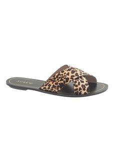 Cyprus calf hair sandals