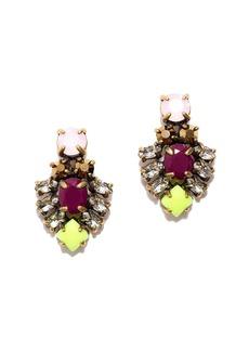Dainty crystal stud earrings