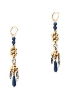 Dangly exotic bead earrings