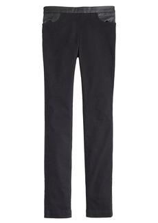 Dannie leather-trim pant