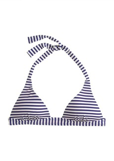 Deck-stripe sculpted halter bikini top
