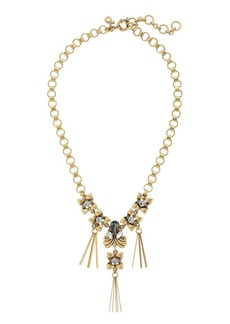 Deco crystal pins necklace