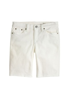Denim bermuda short in white