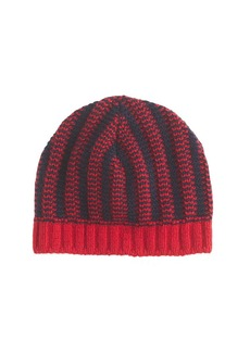 Diamond stitch beanie