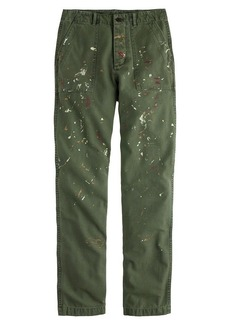 Distressed painted cargo pant