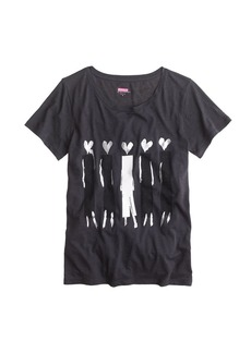 Donald Robertson™ for J.Crew heart-headed women tee