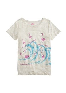 Donald Robertson™ for J.Crew surfing flamingos T-shirt