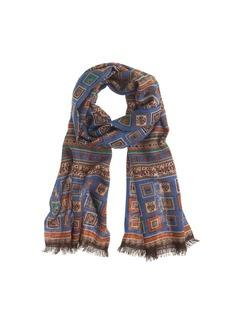 Drake's® blue geo scarf