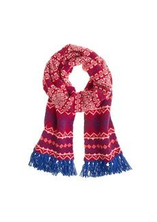 Drake's® for J.Crew Fair Isle scarf