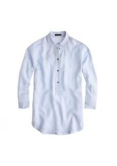 Drapey oxford crepe popover shirt