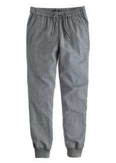 Drapey wool sweatpant in pinstripe