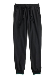 Drapey wool sweatpant with contrast cuff