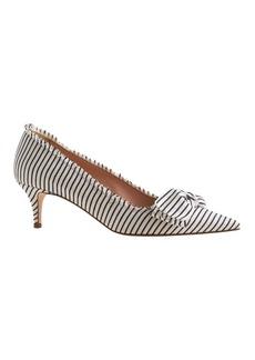 Dulci fabric-bow kitten heels