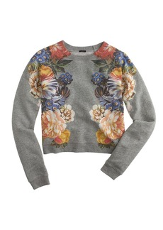 Dutch floral cropped sweatshirt