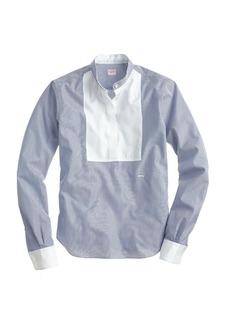 E. Tautz™ neckband shirt in navy stripe