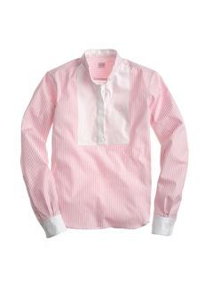 E. Tautz™ neckband shirt in pink stripe