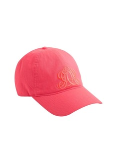 Embroidered emblem baseball cap in tonal