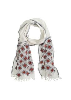 Embroidered sunburst scarf