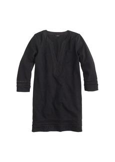 Embroidered three-quarter sleeve beach tunic