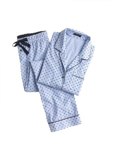 End-on-end pajama set in swiss-dot