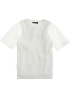 Eyelet-sleeve sweater