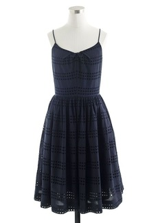 Eyelet stripe dress