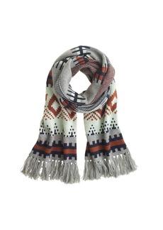 Fair Isle stripe scarf
