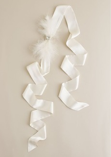 Feather bow sash