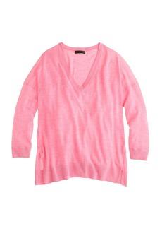 Featherweight merino wool V-neck sweater