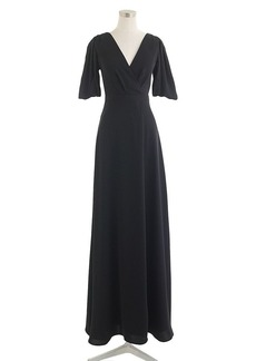 Felicity long dress in drapey matte crepe