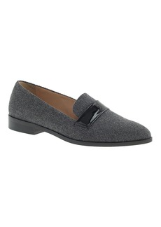 Felted wool penny loafers