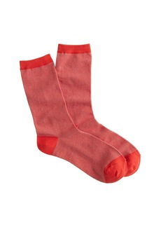 Fine-striped trouser socks