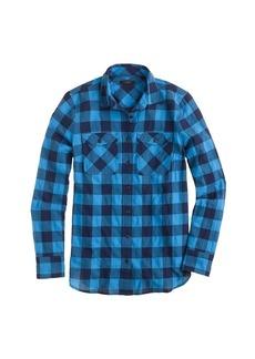 Flannel shirt in brilliant sea check