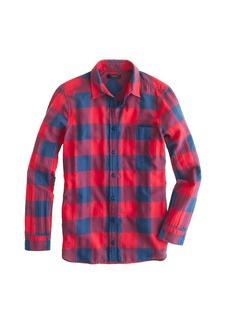 Flannel shirt in buffalo check