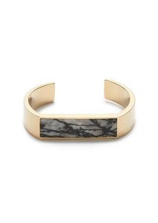 Flat stone cuff bracelet