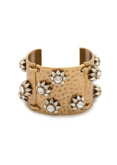 Floral shield cuff bracelet